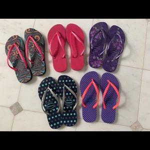 Havaianas flip flops pack of 5